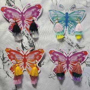Boho tassel earrings, full collection set